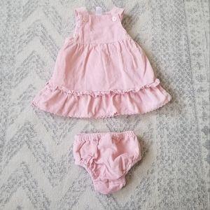 Baby Gap newborn 0-3 month dress & cover